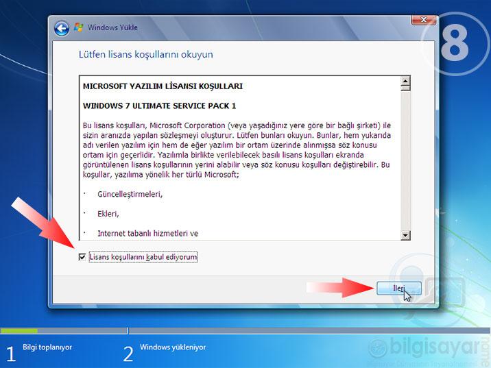 Windows 7 Resimli Anlatım -8-lisans-kabul