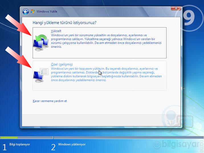 Windows 7 Resimli Anlatım -9-yukleme-turu