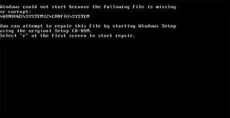 Windows Aşağıdaki Dosya Eksik veya Bozuk Olduğu için Başlatılamadı