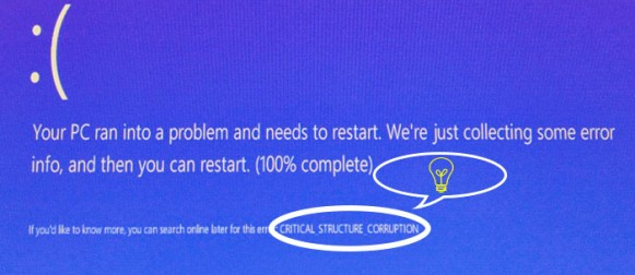 critical structure corruption windows 8.1 hatası