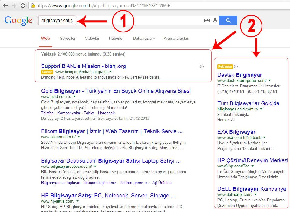 Google Adwords Nedir Ne işe Yarar ?