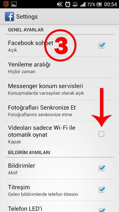 Facebook Otomatik Video Oynatma 'yı Kapatma (Android) - 3