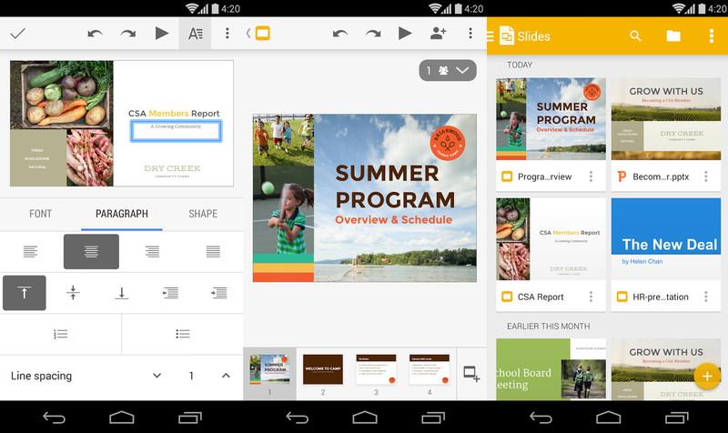 Ayın En iyi Android Uygulamaları (Haziran 2014) - Google Slides