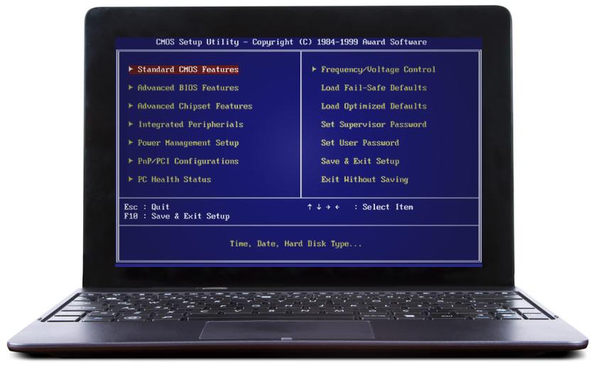 Laptop Format Atma -BIOS' a giriş yapın