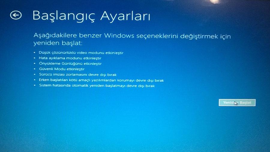 Windows 8.1 Güvenli Modda Açma Resimli Anlatım - 8