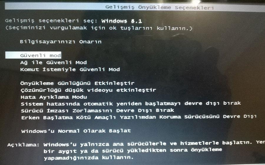 Windows 8.1 Güvenli Modda Açma Resimli Anlatım - 9
